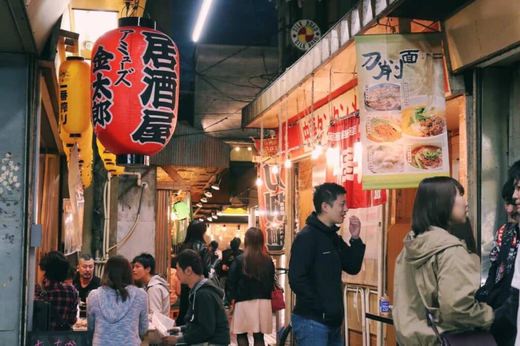 Restaurants at Ichibangai with ta Showa style