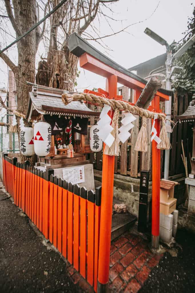 Red torii in Nakazakicho, Osaka
