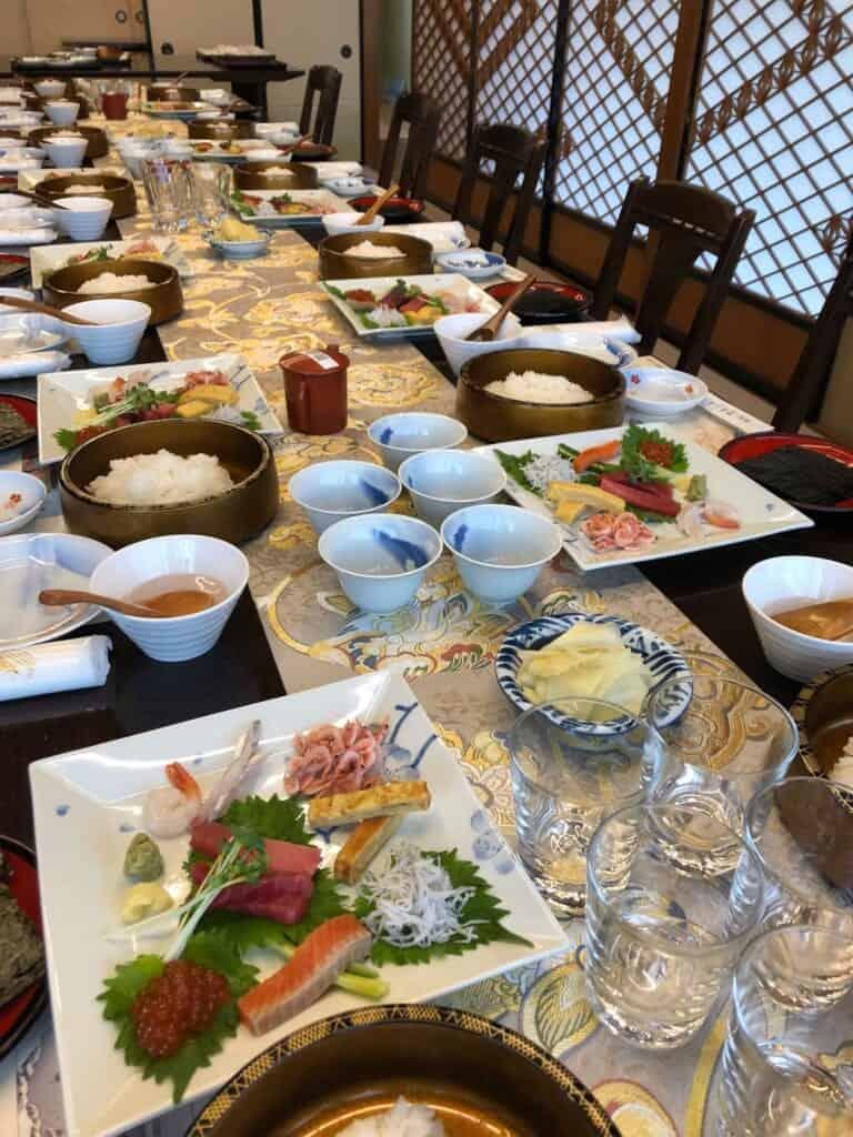 Learning how to make Temaki Sushi with Yamazaki-san