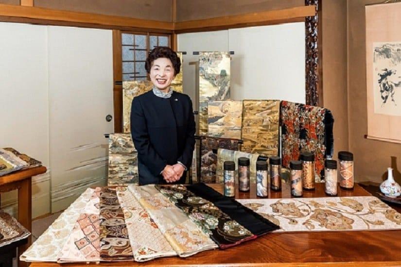 Yamazaki san and her collection of vintage obi & obi remakes