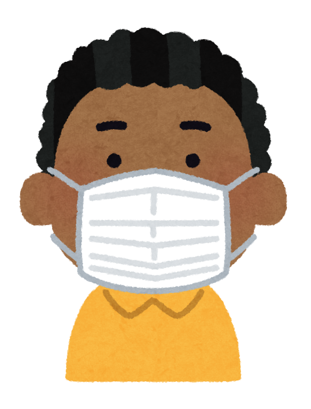 An illustration of a boy wearing a mask.