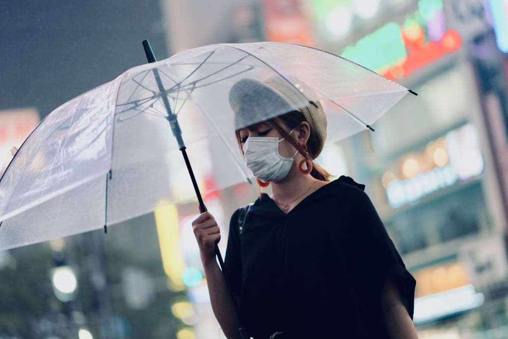japanese woman wearing face masks