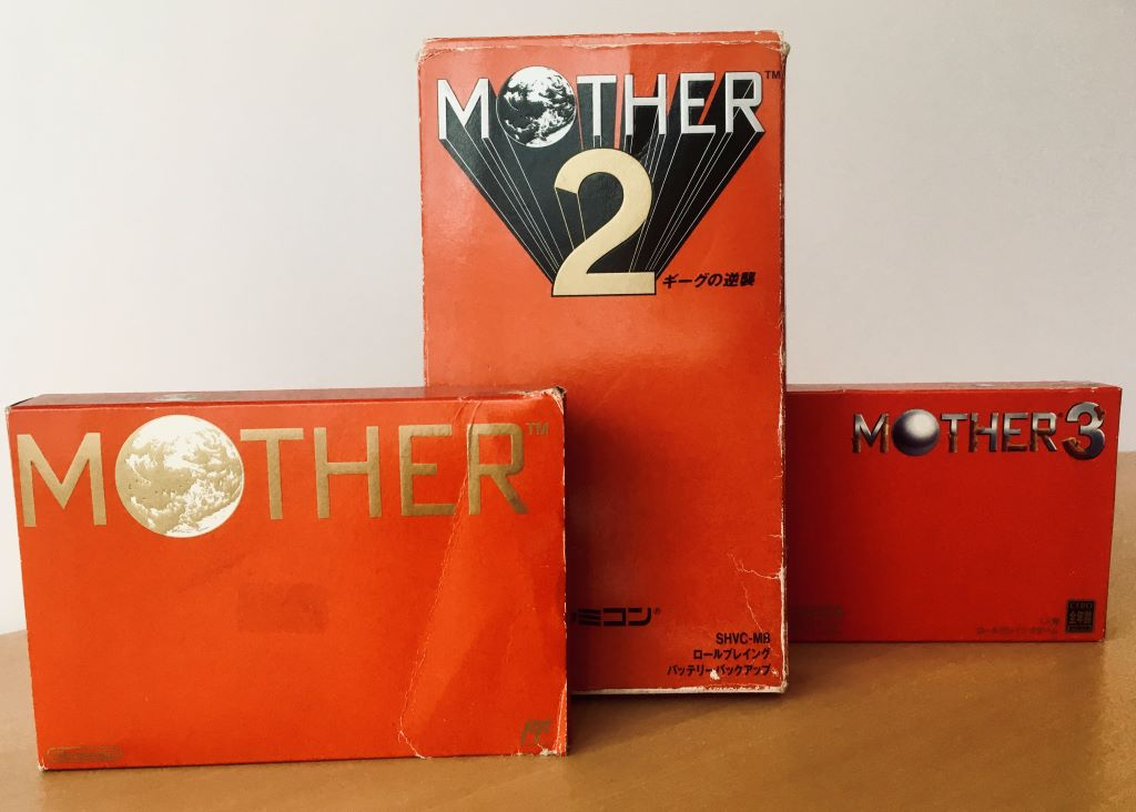 Mother: A series of cult classic JRPGs known primarily in the West by its second title, localized as Earthbound, for the SNES