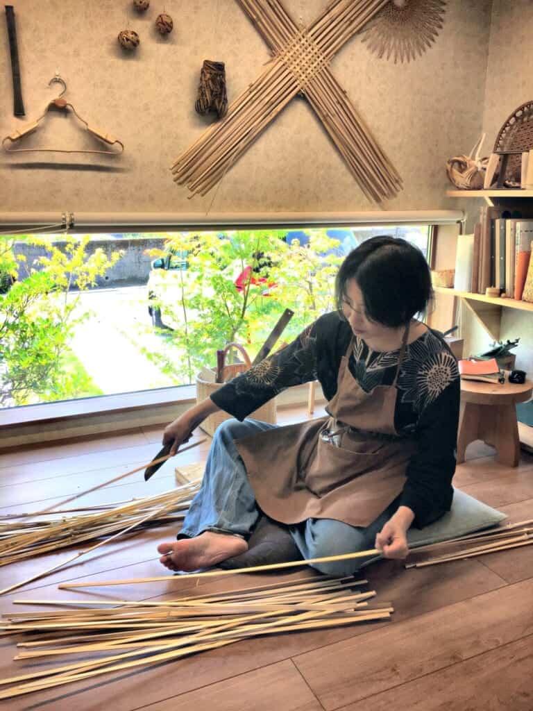 Shop owner and head craftsperson Mikiko Sato