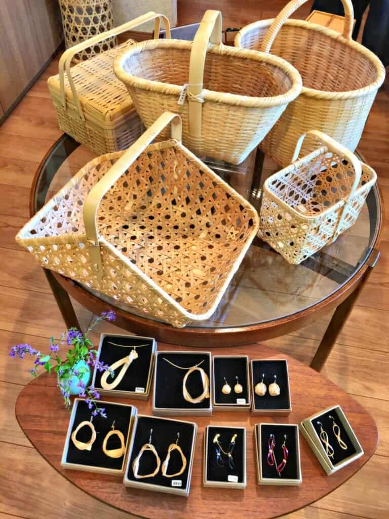 Bamboo crafts and jewellery at Cotake