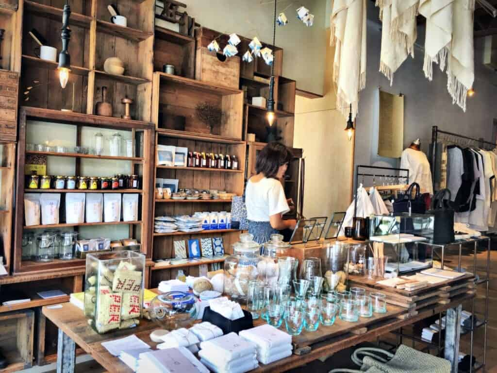 Spica shop with its wooden shelves and well-selected goods