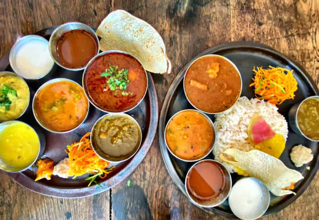 Colorful Indian curry in a restaurant in Japan