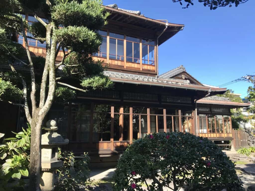 Traditional Japanese building made of wood