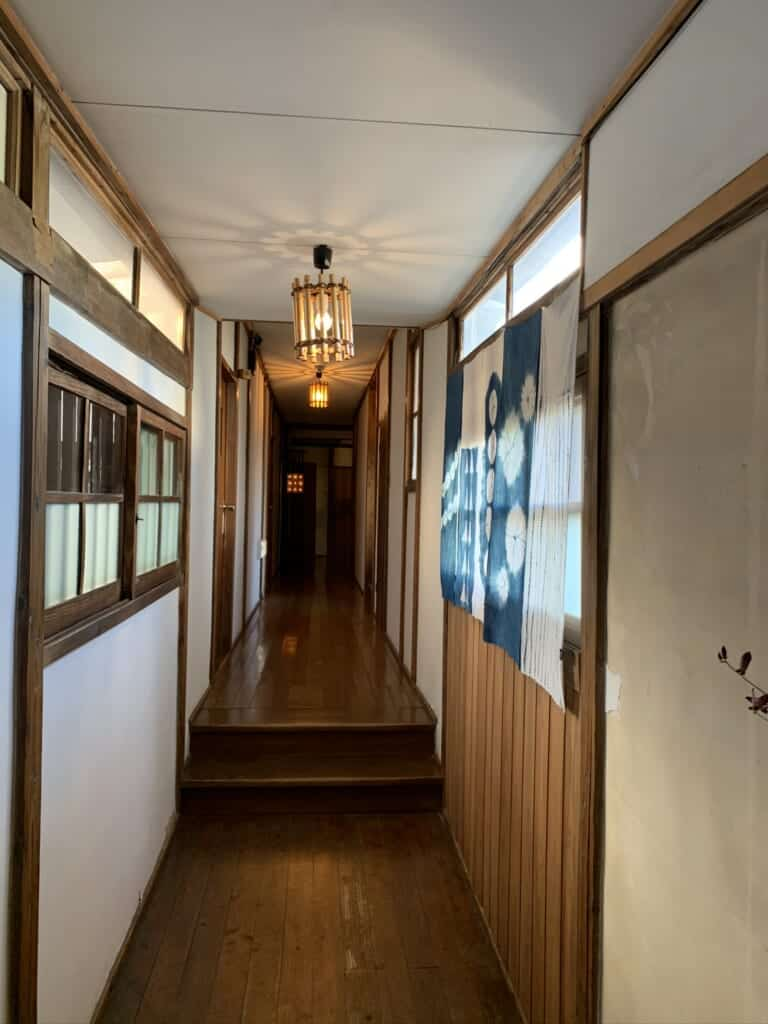 Hallway in a Japanese ryokan from Showa period