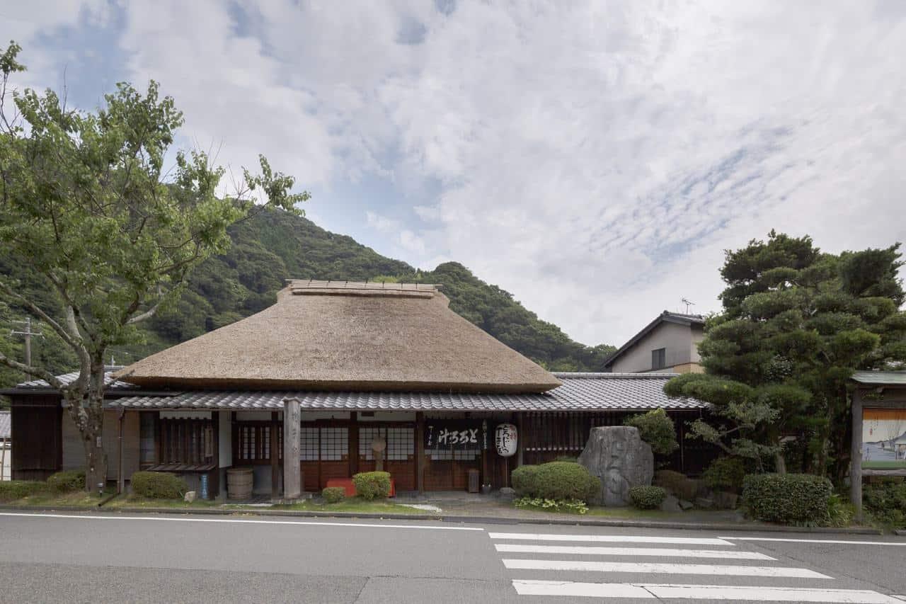 The Traditional Japanese Chojiya Teahouse on Tokaido Road