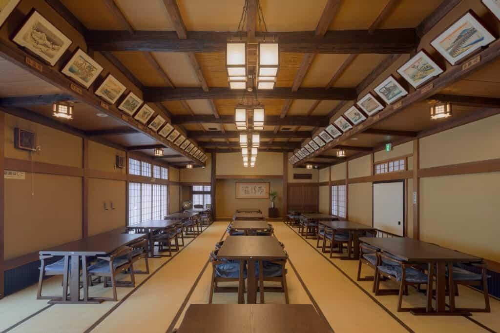 The Hiroshige room with prints of all of his Tokaido ukiyo-e works
