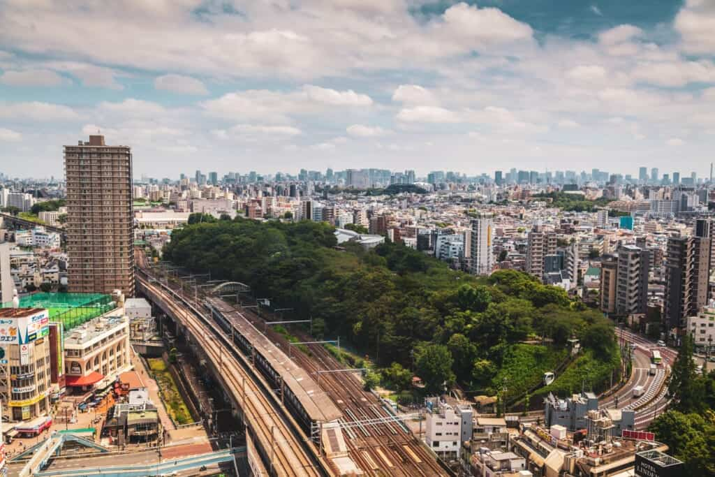Asukayama Park from Holutopia's observation deck