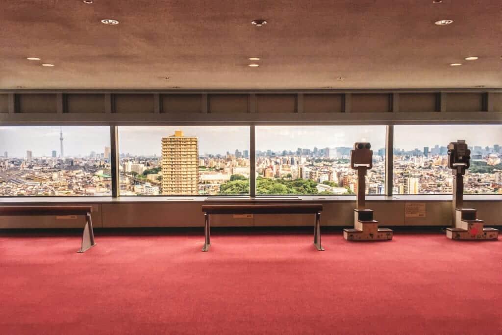 Hokutopia's 17th floor observation deck