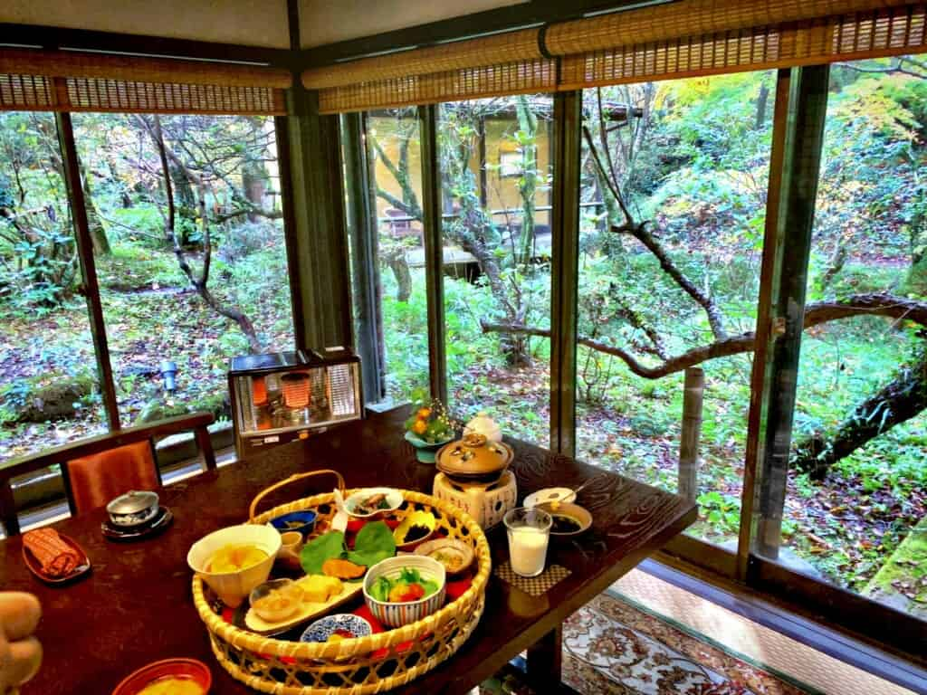 Sennomori traditional japanese breakfast
