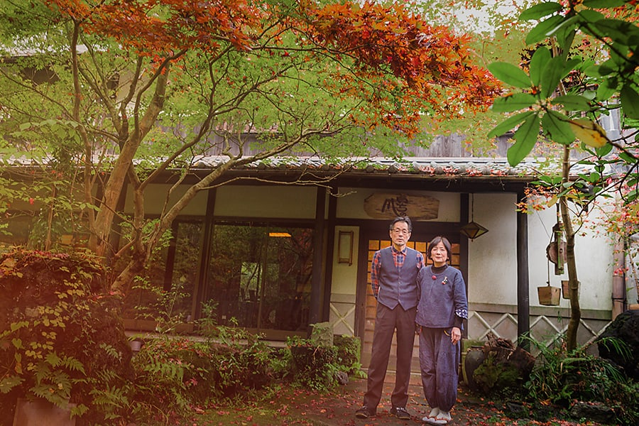 Sennomori Kai family at traditional japanese ryokan inn