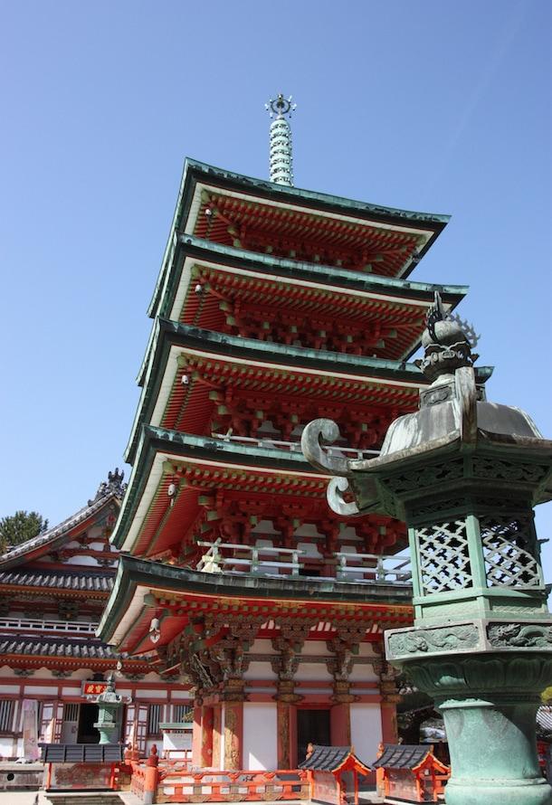 Pagoda Kosanji on Ikuchijima island, Setouchi