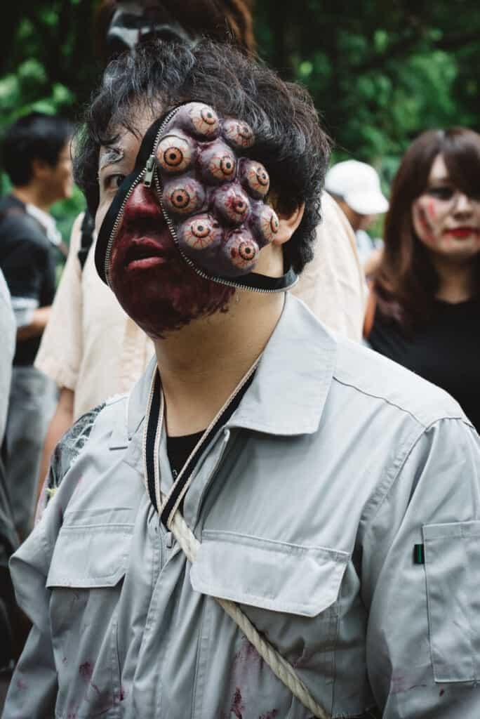 Weird costume at Yoyogi Park in Tokyo.