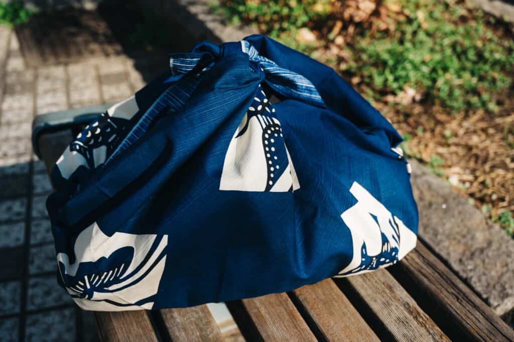 A Japanese furoshiki is a traditional reusable bag.