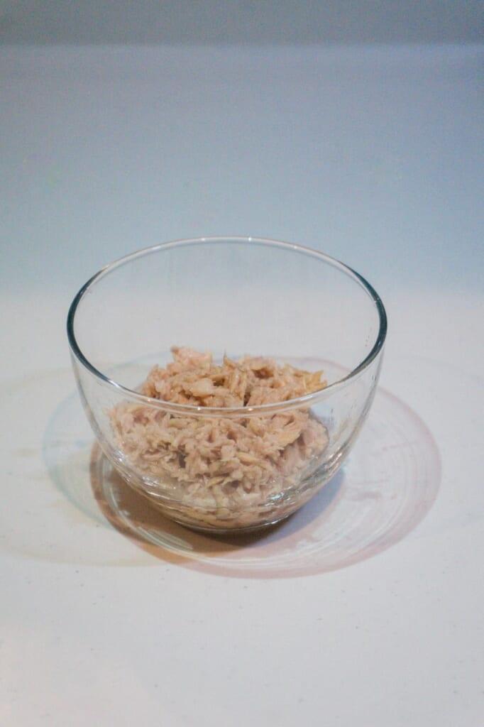 A little bit of tuna to do the stuffed