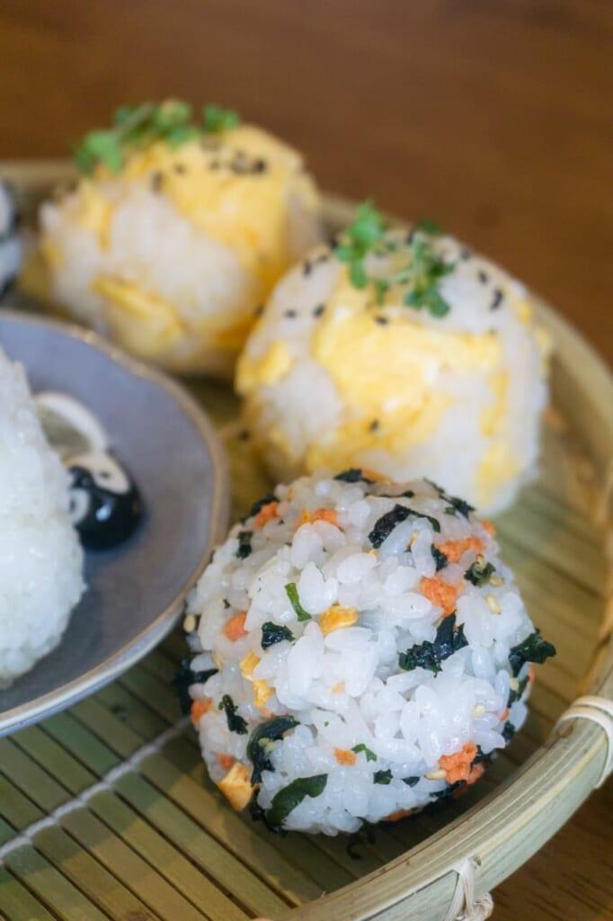 Different types of onigiris