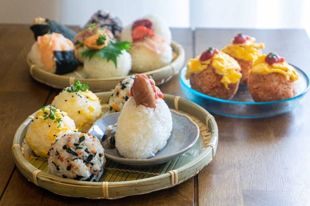 A full set of onigiris