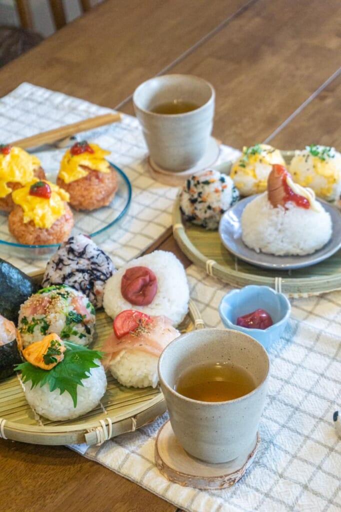 Delicious onigiris ready to be eaten
