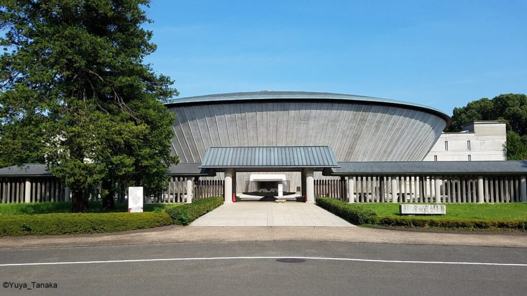 Entrance of Tama Cemetery, Tokyo.