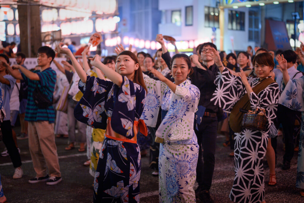 Bon odori dance, Japan.