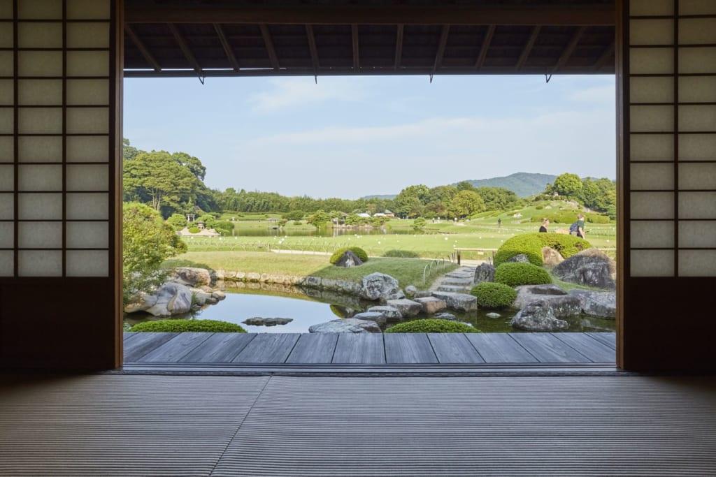 from inside kobuntei house