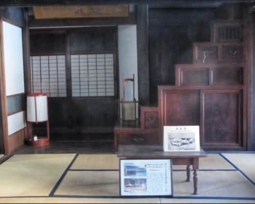 Historical items from the Edo and Showa period showcased in Shida-tei, a Traditional Japanese house on the Tokaido Road