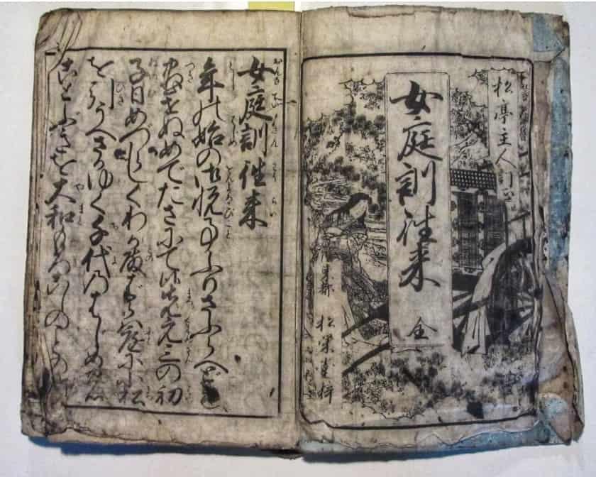 Terakoya textbooks, an historical item of the edo and showa period