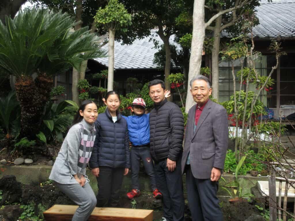 Shida-san and his family