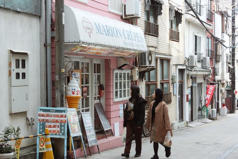 Crepe Shop on Onomichi island
