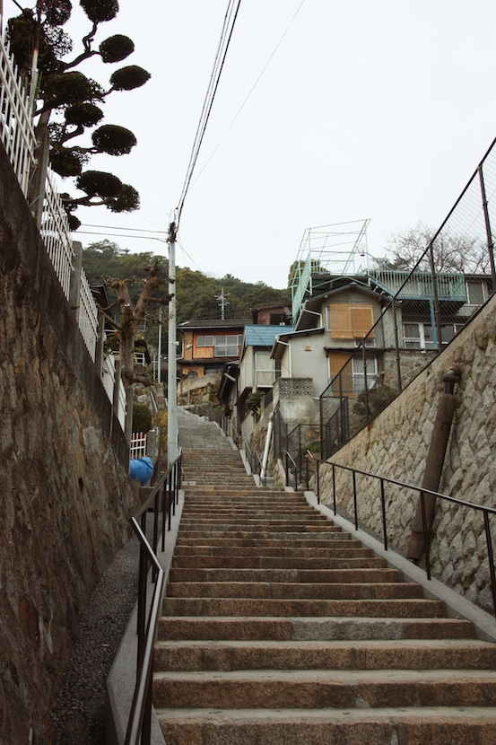 Steep stairs of Onomichi
