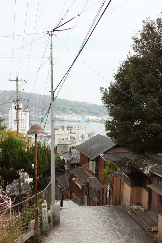 Electrical lines on the streets of Onomichi