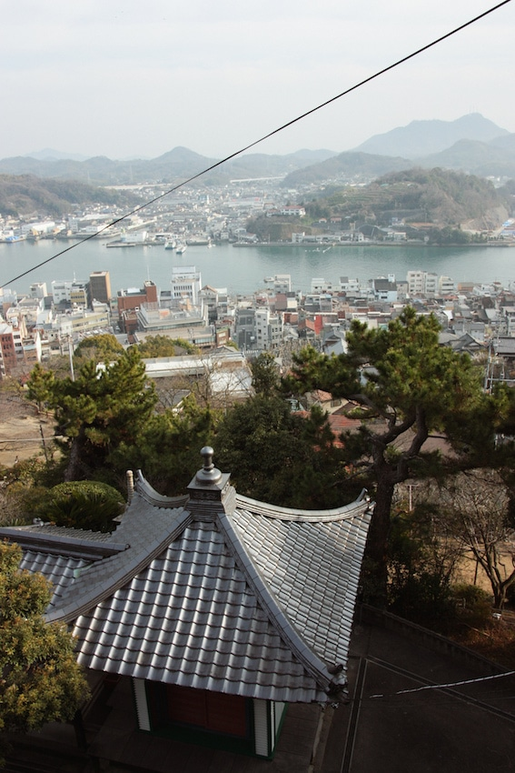 Cable car view of Onomichi and the Seto Inland Sea