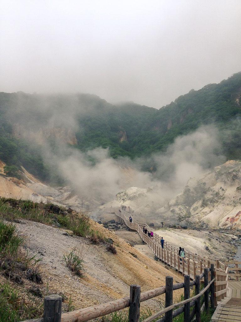 noboribetsu onsen hot springs in  Hokkaido, Japan