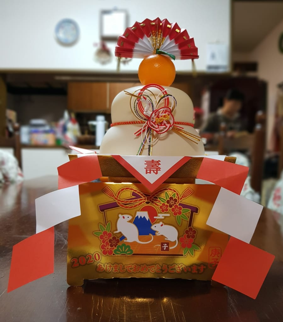 Kagami-mochi, symbol of New Year in Japan.