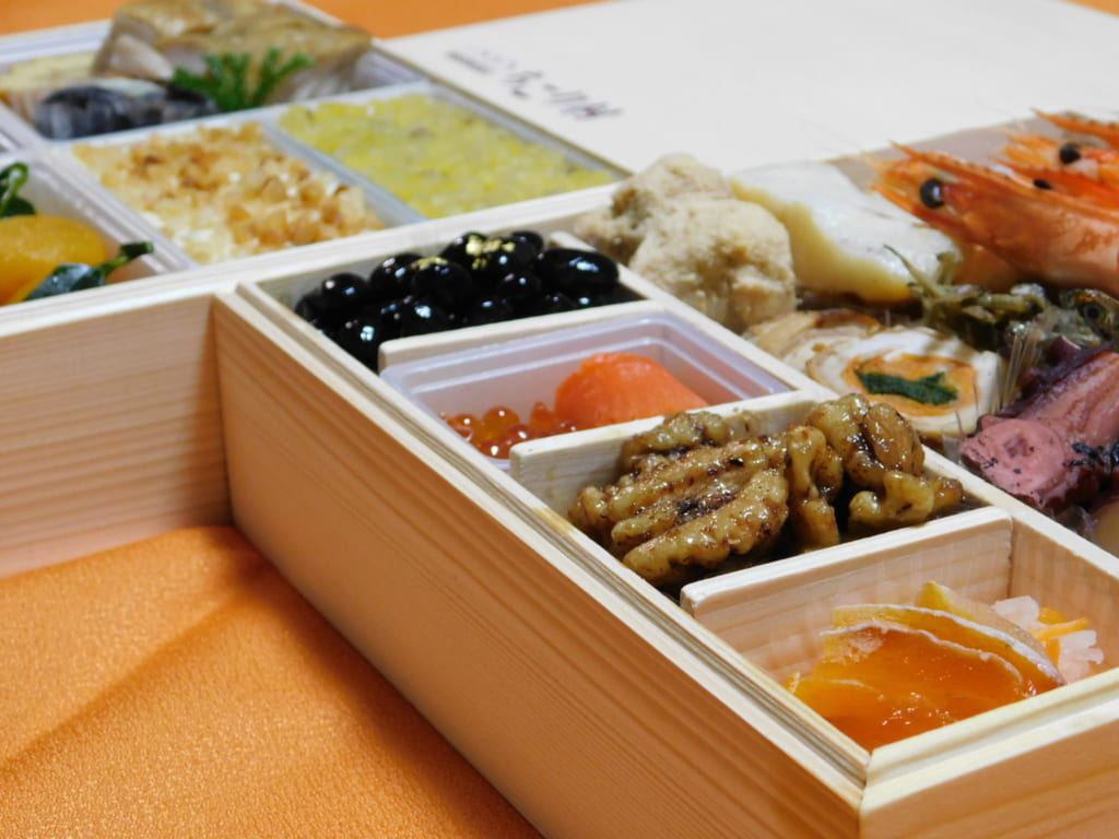 Osechi-ryōri on New Year in Japan.