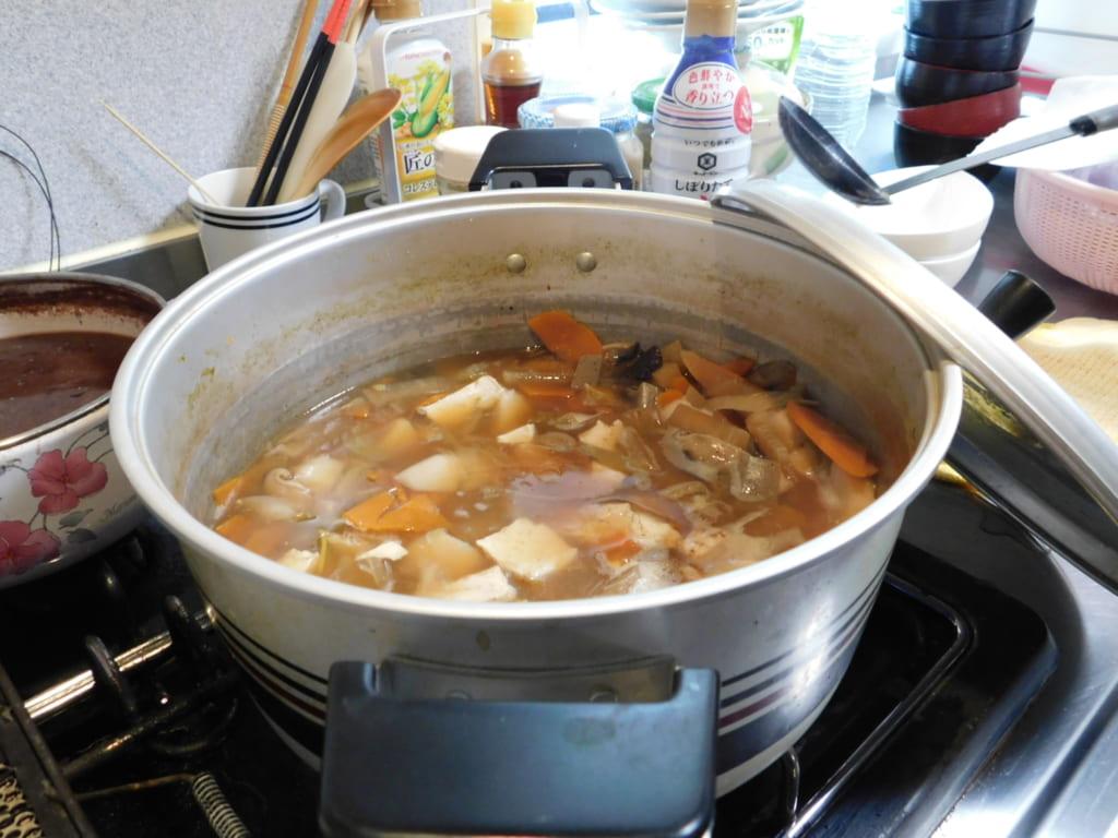 Ozoni, soup with mochi.