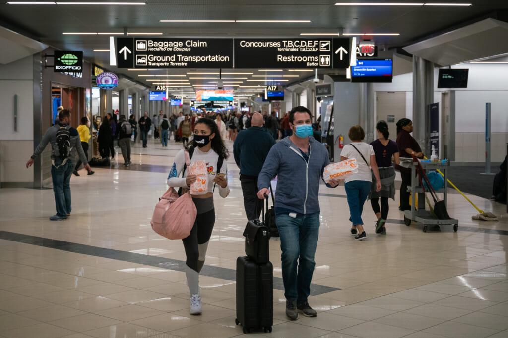 Travelers in Atlanta Airport