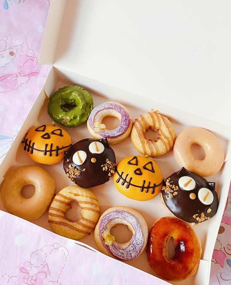 Some Halloween themed doughnuts