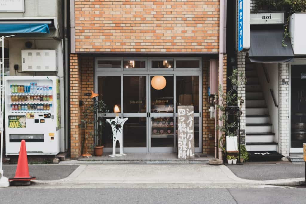 A typical japanese bakery shop from the outside