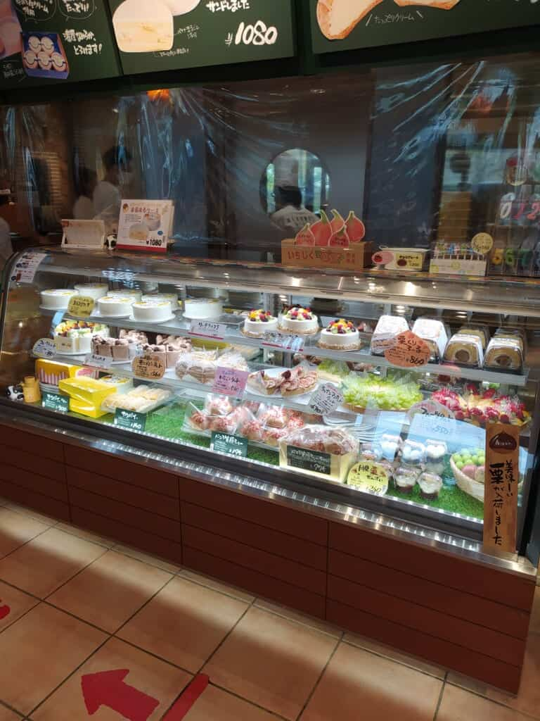 A japanese bakery shop from the inside