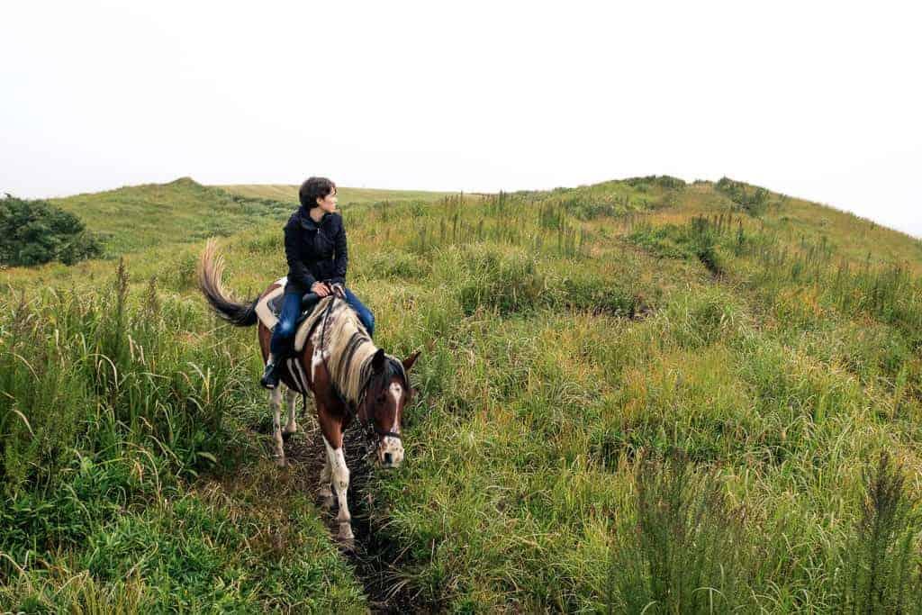 Horse riding in Kumamoto prefecture.