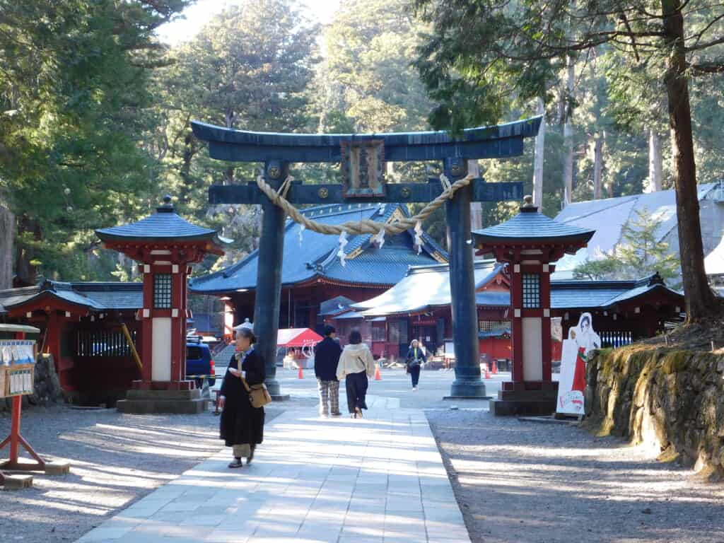Torii gate at Nikko Toshogu Shrine.
