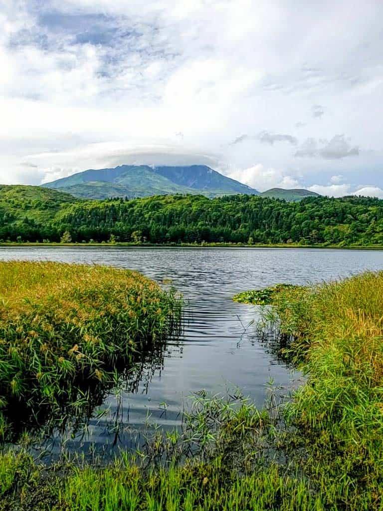 A view of Otatomari Swamp on Rishiri Island, Hokkaido