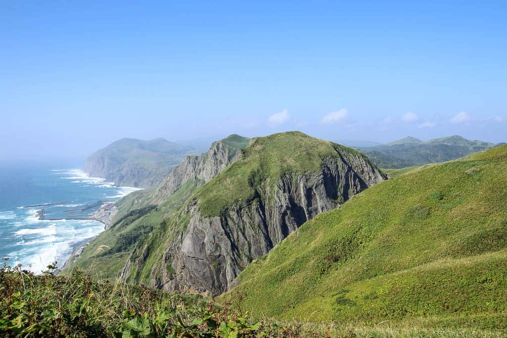 Ocean Views of Momoiwa Observatory Hiking Course on Rebun Island in Hokkaido
