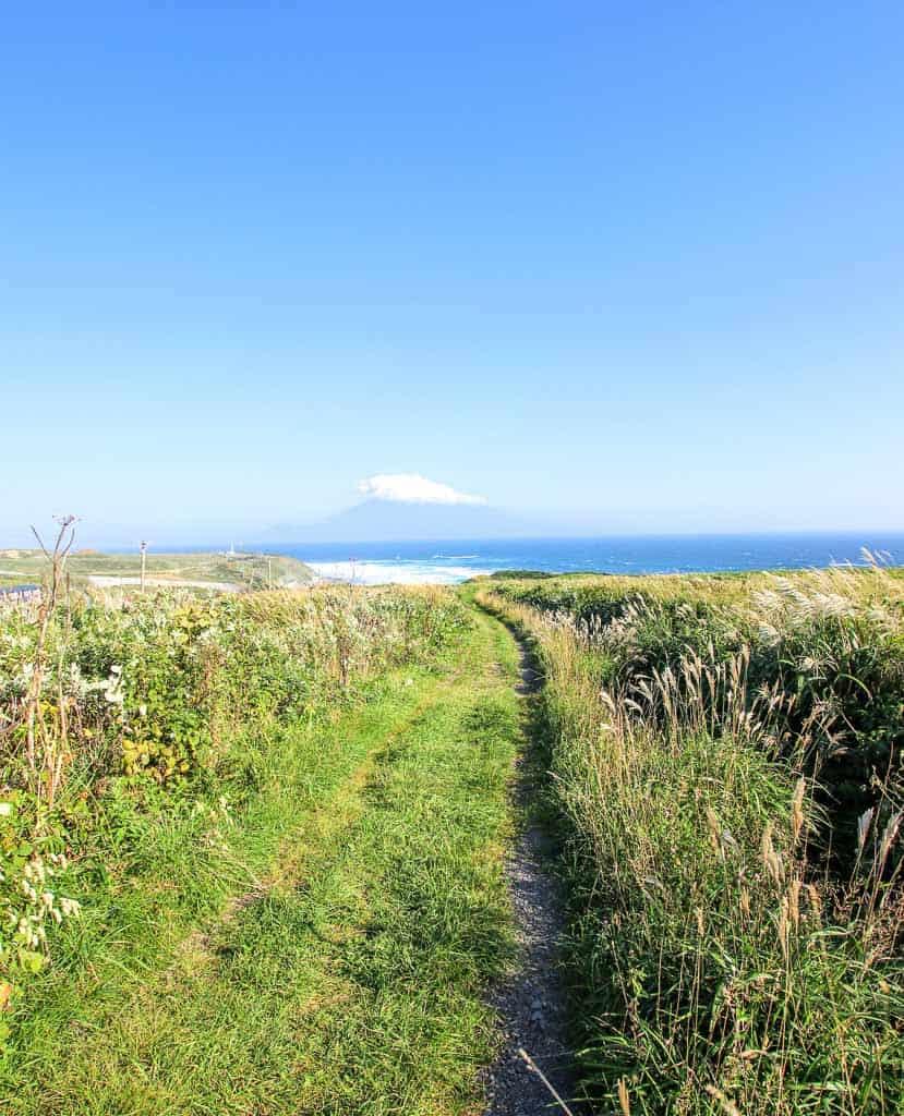 Seaside views on Hokkaido's remote island