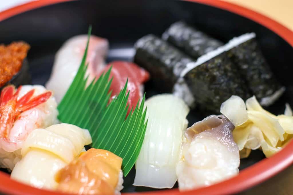 Fresh Rebun seafood and sushi in HOkkaido